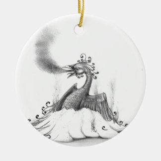 Phoenix Keramik Ornament