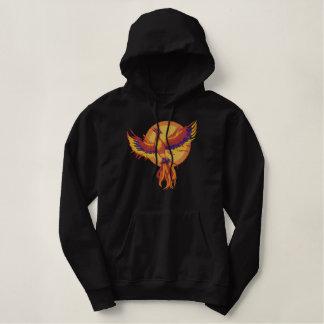 Phoenix-Steigen Bestickter Hoodie