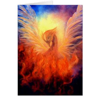 Phoenix steigendes Notecard Karte