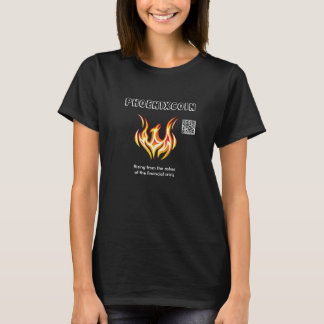 Phoenixcoin brannte T - Shirt mit QR Code ein