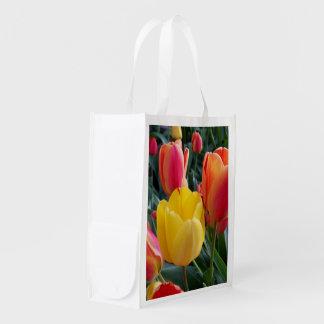 Photo bilatérale sacs d'épicerie réutilisables