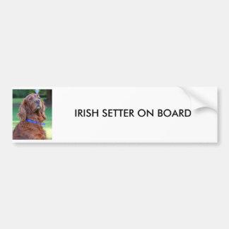 Photo de chien de poseur irlandais belle, cadeau f autocollant de voiture