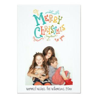 Photo de fête et d'amusement de Joyeux Noël de Carton D'invitation 12,7 Cm X 17,78 Cm