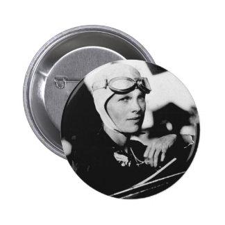Photo vintage d'Amelia Earhart Badge Avec Épingle