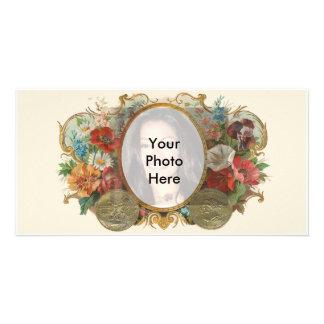 Photo vintage de fleur cartes avec photo