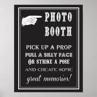 Photobooth - Vintag - Zeichen - Hochzeits-Party Poster