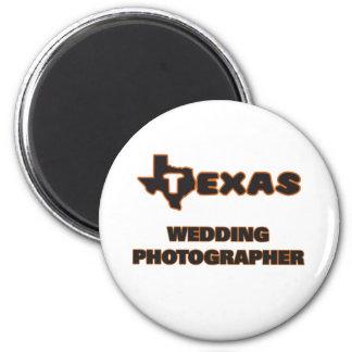 Photographe de mariage du Texas Magnet Rond 8 Cm