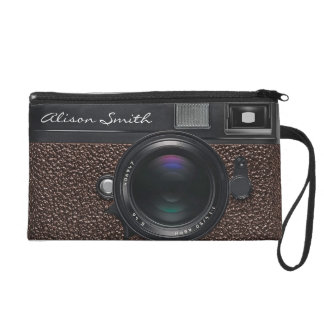 Photographer dark Brown Camera Wristlet