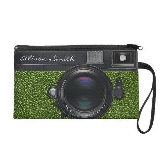 Photographer light Green Camera Wristlet Handtasche