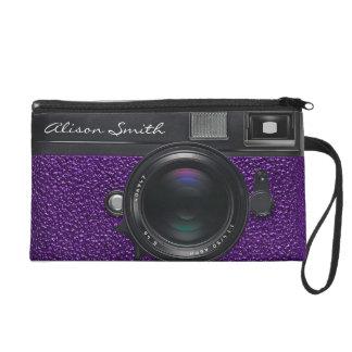 Photographer violet Camera Wristlet