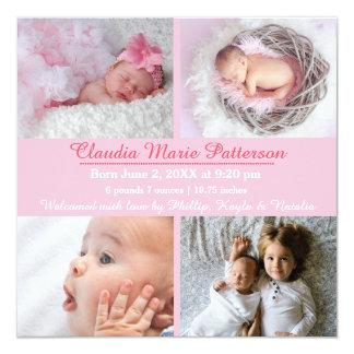 Photos du rose 4 - faire-part de naissance