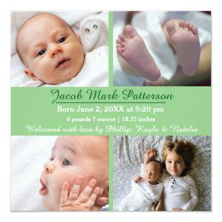 Photos du vert 4 - faire-part de naissance