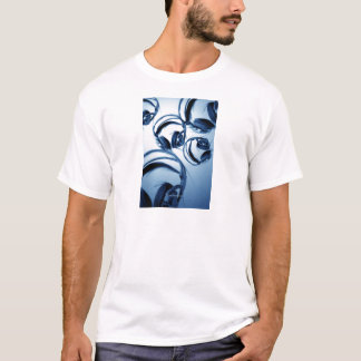Photoshop Malerei (Kopfhörer-Blau) T-Shirt
