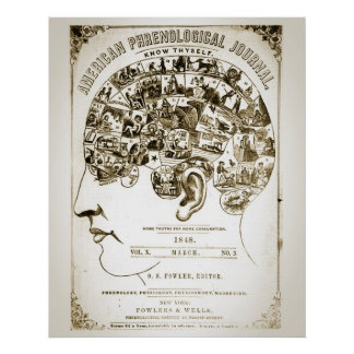 Phrenologie-Plakat Poster