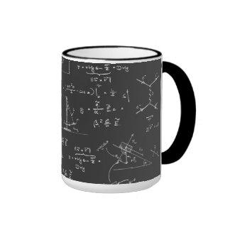 Physikdiagramme und -formeln tasse