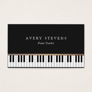 Pianist-elegante und einfache schwarze visitenkarten