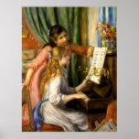 Piano d'Au de Pierre-Auguste Renoir - de Jeunes Fi Poster