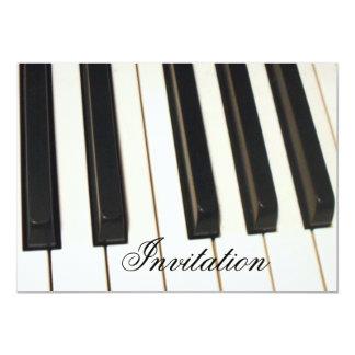 Piano Keys_ Carton D'invitation 12,7 Cm X 17,78 Cm