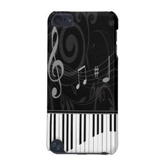 Piano lunatique et notes musicales coque iPod touch 5G