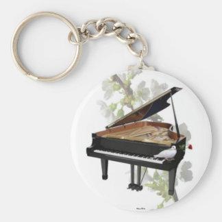Piano - musique romantique Keychain Porte-clef