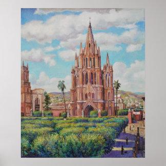 Piazzaen San Miguel de Allende Print Poster
