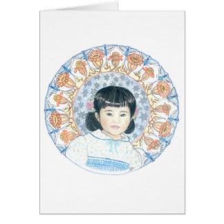 pic5Hannah mit Ringelblumen Grußkarte
