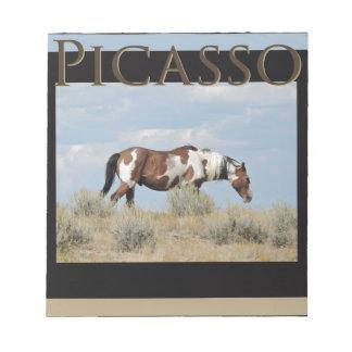 Picasso, Stallion des Sand-Waschbeckens, Colorado Notizblock