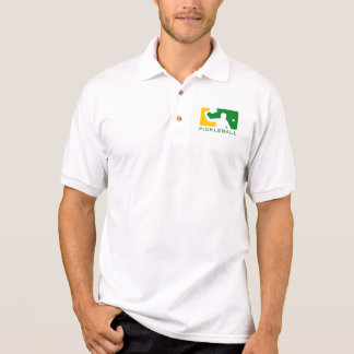 Pickleball Polo-Shirt: Oberste Spielklasse (weiß) Poloshirt