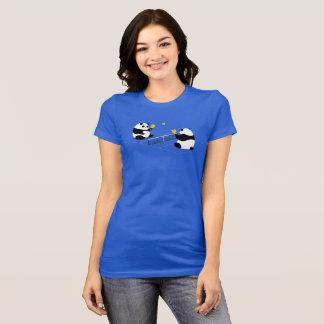 "Pickleball T - Shirt: ""Pickleball Pandas"" (Blau) T-Shirt"