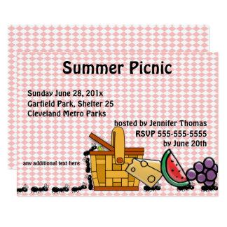 Picknick-Diebe, marschierende Ameisen-Party Karte
