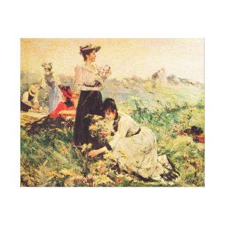 Picknick in Normandie durch Juan Luna Leinwanddruck