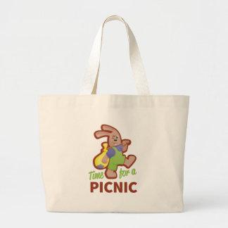 Picknick-Zeit Jumbo Stoffbeutel