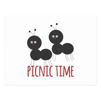 Picknick-Zeit Postkarte