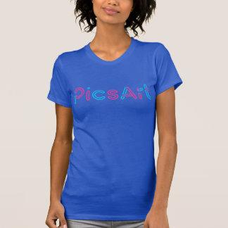 PicsArt, Rosa/blaue Logo-Frauen T-Shirt