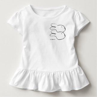 Pièce en t blanche de ruche d'enfant en bas âge de t shirts