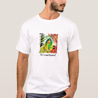 "Pièce en t ""d'art de femme"" t-shirt"
