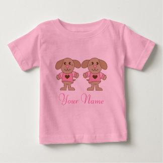 Pièce en t de bébé de filles de chiot t-shirt