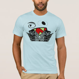 Pièce en t de graphique de visage de monstre t-shirt