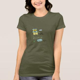 Pièce en t inclinée de monstre de filles de DTV T-shirt
