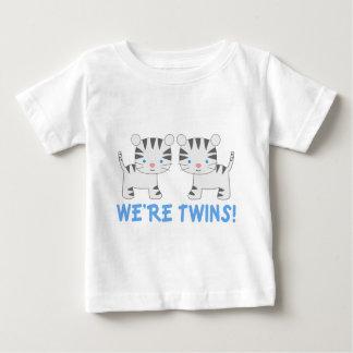 Pièce en t jumelle de bébé de tigre de jungle de t-shirt pour bébé