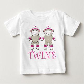Pièce en t jumelle de nourrisson de filles t-shirt pour bébé