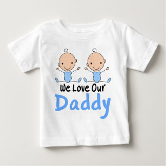 Pièce en t jumelle de nourrisson de papa d'amour tee shirt