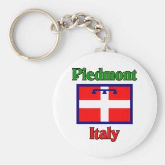 Piemont Italien Standard Runder Schlüsselanhänger