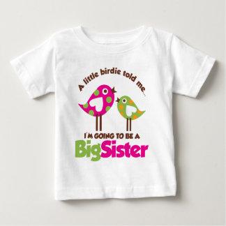 Piepmatz, der geht, eine große Schwester zu sein Baby T-shirt