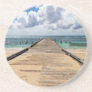Pier in die Ozean Saona Domenican Republik Sandstein Untersetzer