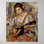 Pierre-Auguste Renoir - fille avec une mandoline Poster