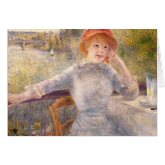 Pierre ein Renoir   A. Fournaise beim Grenouillere Grußkarte