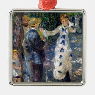 Pierre ein Renoir | das Schwingen Quadratisches Silberfarbenes Ornament