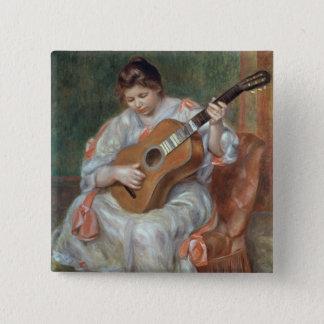 Pierre ein Renoir | der Gitarrist Quadratischer Button 5,1 Cm