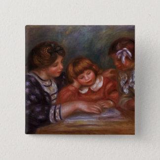 Pierre ein Renoir | die Lektion Quadratischer Button 5,1 Cm